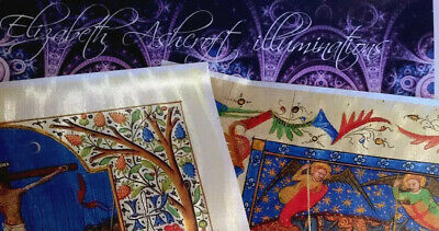 illuminations   COLLECTION OF 2 Manuscript RE-PRODUCTION New