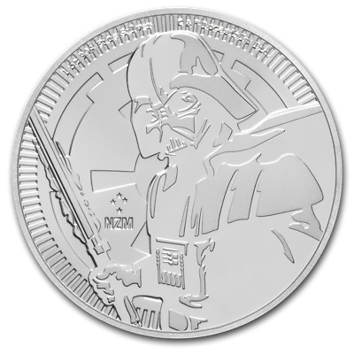 MintDirect® Single SKU #151419 2017 Niue 1 oz Silver $2 Darth Vader