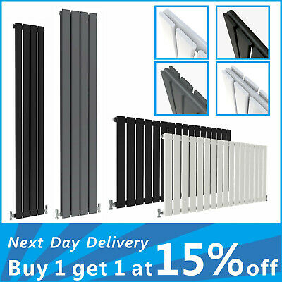 Designer Flat Panel Radiator Vertical Horizontal Rads Anthracite White