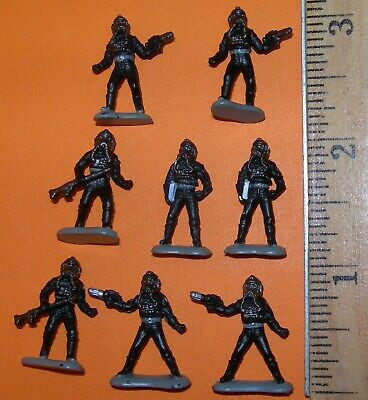 Star Wars Micro Machines IMPERIAL TIE FIGHTER PILOT 8 Figures Lot Galoob 1996