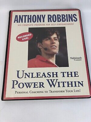 Anthony Robbins Unleash the Power Within 6 Cassette Tape Set Self Empowerment GC