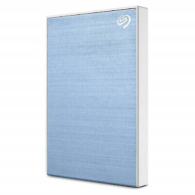 Seagate HDD 2 TB 2T Backup Plus Light Blue Portable External Hard Disk New ct