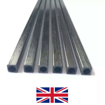 3*3-10*10mm L:25-50cm Square Carbon Fiber Square Tube Pipe Round Hole Pole Fast