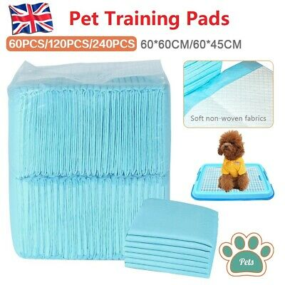 60/120/240pcs 60X60CM Large Puppy Training Pads Toilet Pee Wee Mats Pet Dog Cat