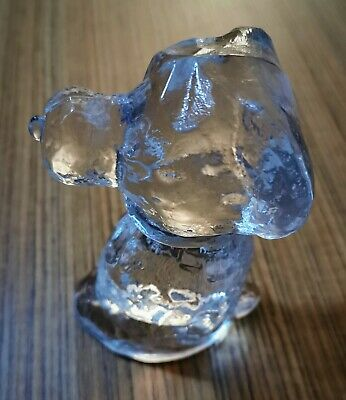 Peanuts Snoopy Glass Sculpture