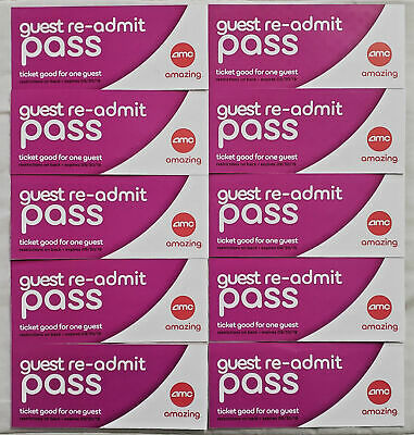 AMC GUEST RE-ADMIT MOVIE PASS TICKET - Valid for 3D, Dolby, IMAX, Prime 09/30/19