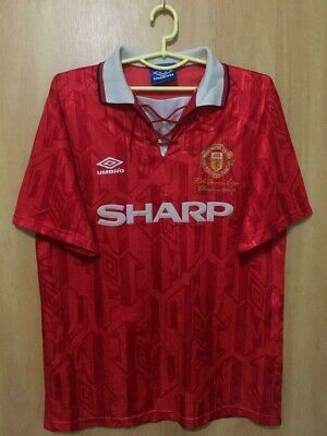 Manchester United 1992/1994 Player Issue Home Football Shirt Jersey Vtg Umbro