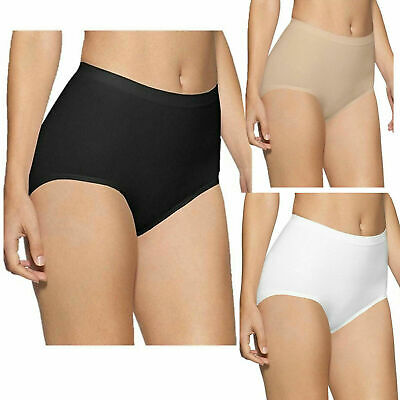 Women Quality Knickers Briefs Girls Seamless Fat Control Maxi Brief 3 in pack