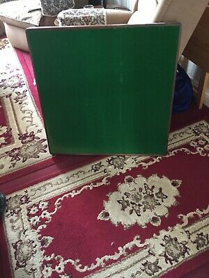 Vintage vono folding card table with original Baize Top
