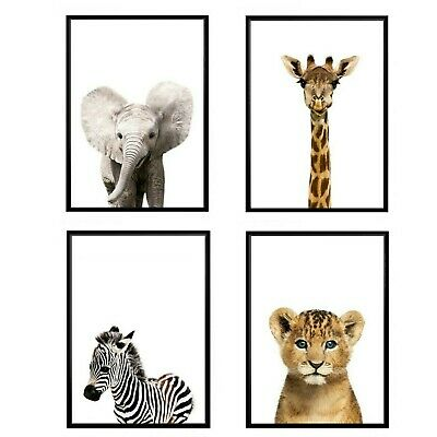 4x, Kids Print, Animal Print, Giraffe Print, Poster, Print, Wall Art, Home Decor