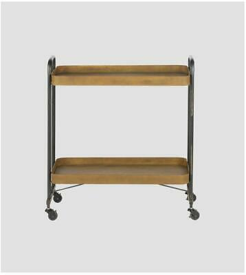 BePureHome Rusty Serving Cart Trolley Black with Rust