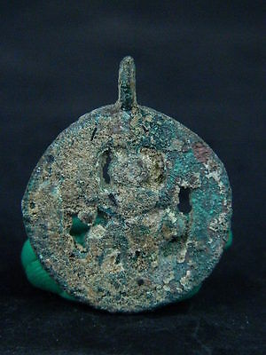 Ancient Bronze Pendant Bactrian 300 BC #BR1086