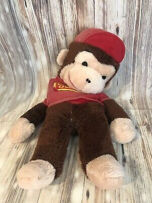 Personalised Soft Monkey Teddy N18 Valentines Love Gift 24cm Any Text Photo