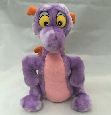 "Vintage 1982 Walt Disney World Epcot Figment 11"" Plush Doll Purple Dragon 👀"