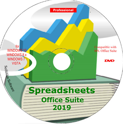 Spreadsheet Excel Office Suite 2019 Works Home Student and Business for Windows