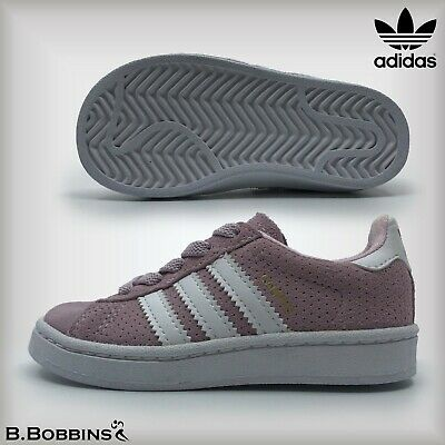 Adidas Originals Pink CAMPUS B Grade Size UK Infant 6 Euro 23 Girls Trainers