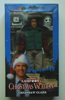 National Lampoon's Christmas Vacation Chainsaw Clark figure NIB