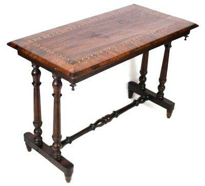 Antique Victorian Rosewood Marquetry Inlaid Hall Table [1090]