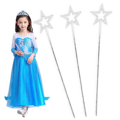 12/24pcs Silver Princess Wands Girls Costume Props Magic Wands for Party Cosplay