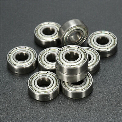 2//5//10 Pcs 8x19x6mm 698ZZ Metal Shielded Ball Bearing Bearings