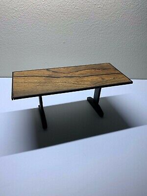 Miniature ROSEWOOD AND EBONY DINING TABLE  1:12 scale