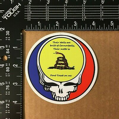 Grateful Dead Dont Tread on me Uncle Johns band Sticker 4 inch UV protected