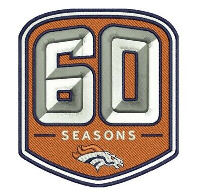 Denver Broncos 60Th Anniversary Patch 1960 - 2019 Season Nfl Football Limited Ed