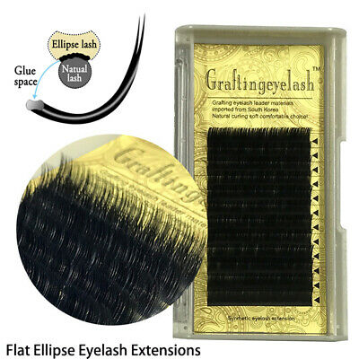 Extension Split Tips Ellipse Shaped False Eyelashes Matte Ellipse Flat