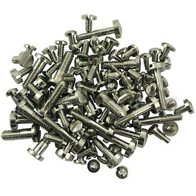 100 Clock screws mixed size SILVER for movements cases bells spares/repairs