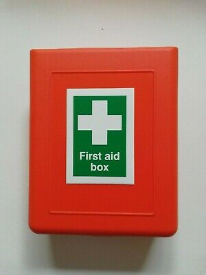 Empty 1 Person Small First Aid Orange Box  With Hinged Lid