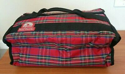 Igloo Food Shuttles Red Plaid Insulated Casserole Carrier with Handles