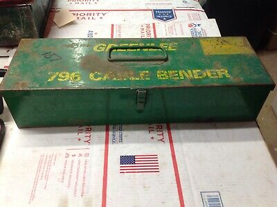 Nice Greenlee 796 Cable Wire Bender Bending Kit Ratcheting #7122