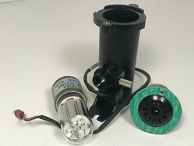 Hamamatsu PMT 1P28A Photomultiplier Tube w/ Power Socket & Housing 185 - 650 nm