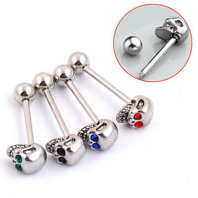 5Pcs Women Mixed Color Tongue Rings Stainless Steel Tongue Jewelry for Girl Gift