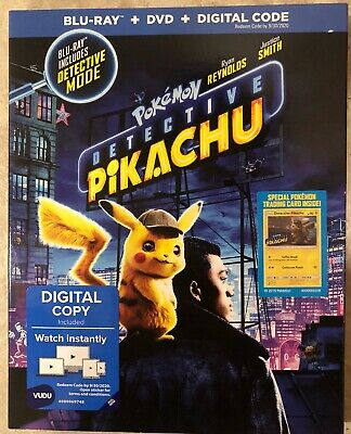 Pokemon Detective Pikachu (Blu-ray + DVD + Digital); 2019 Brand New W/slipcover