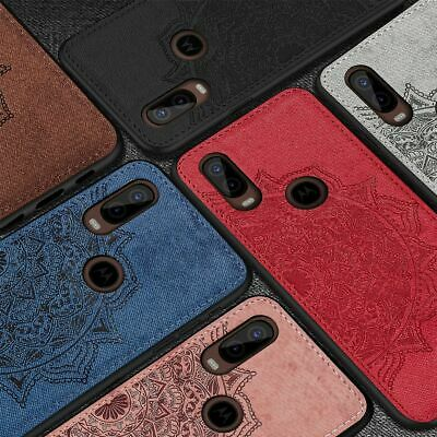 For Motorola Moto One Vision Hybrid Fabric Soft TPU Leather Back Case Cover
