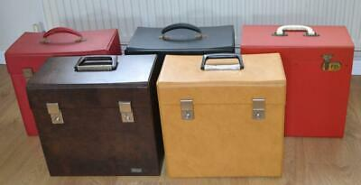 5 x Vintage/Retro Vinyl LP Record Storage Carry Cases - Collection Only