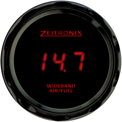 Zeitronix ZR-3 52mm LED Wideband Air Fuel Ratio Gauge Only (RED/BLACK)