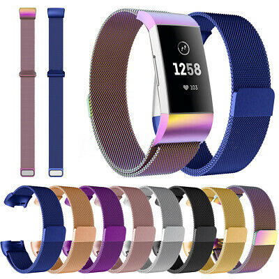 Stainless Steel Milanese/Silicone Wristband Band Bracelet For Fitbit Charge 3