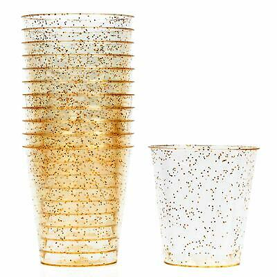 150 Disposable Glitter Shot Glasses Jelly Cups Party Wedding Decor Hen Stag 1oz