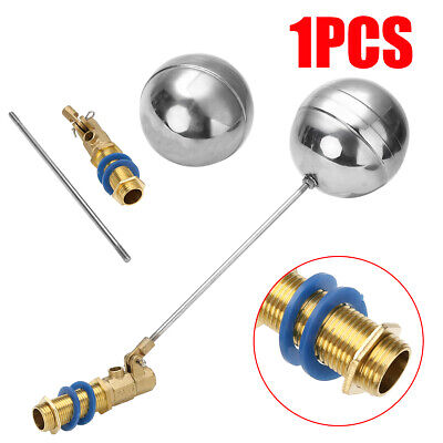 """Stainless Steel 1/2"""" Pressure Brass Balls Valve Water Tank for DN15 Float Home"""