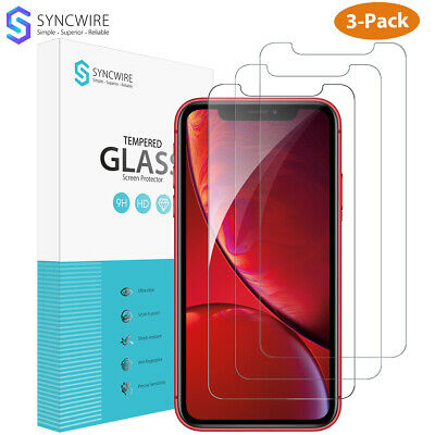 Syncwire iPhone XR XS X XS MAX Screen Protector 3-Pcs Tempered Glass 9H 3D touch