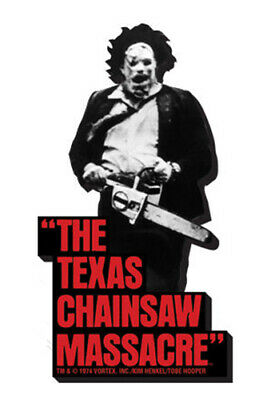 AQUARIUS ENT - Texas Chainsaw Massacre - Leatherface Black and White Magnete