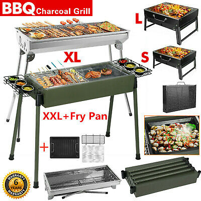 XL Large BBQ Grill Portable Folding Charcoal Barbecue Garden Picnic Steel Stove