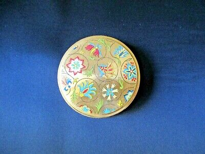 Old Vintage Collectable Makeup Face Powder Gold Compact