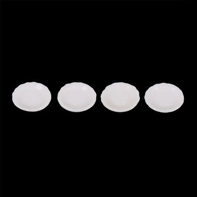 4pcs 1/12 Dollhouse Miniature White Round Dishes Plate Tableware Kitchen Toy JH
