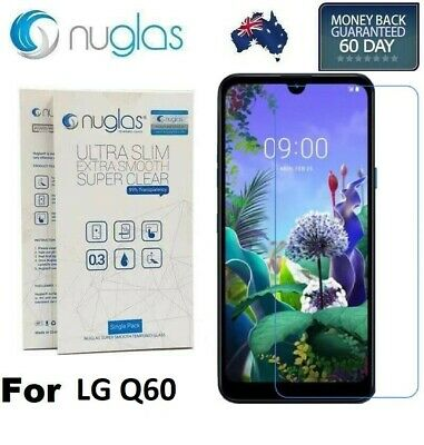 2 X Nuglas Tempered Glass Screen Protector for LG Q60
