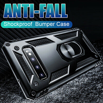 Magnetic Ring Stand Military Armor Case Cover for Samsung Galaxy Note 10 S10Plus