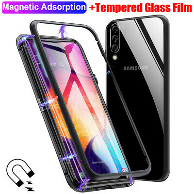 360° Tempered Glass Magnetic Case Cover for Samsung Galaxy Note 10 Plus/ S9+Film