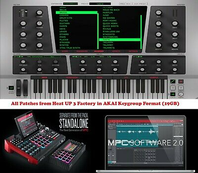 Heat Up 3 Factory Expansion Keygroups for Akai MPC X,  MPC LIVE or Software